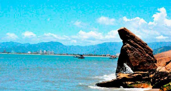 Praia da Pedra da Freira - Vista da cidade - Praias de Caraguatatuba