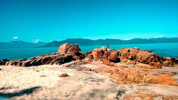 Vista da baía de Caraguatatuba - Praia da Pedra da Freira